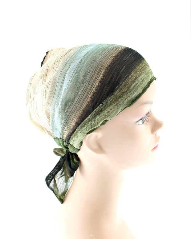 Shaded Self-Tie 3 in 1 Headbands