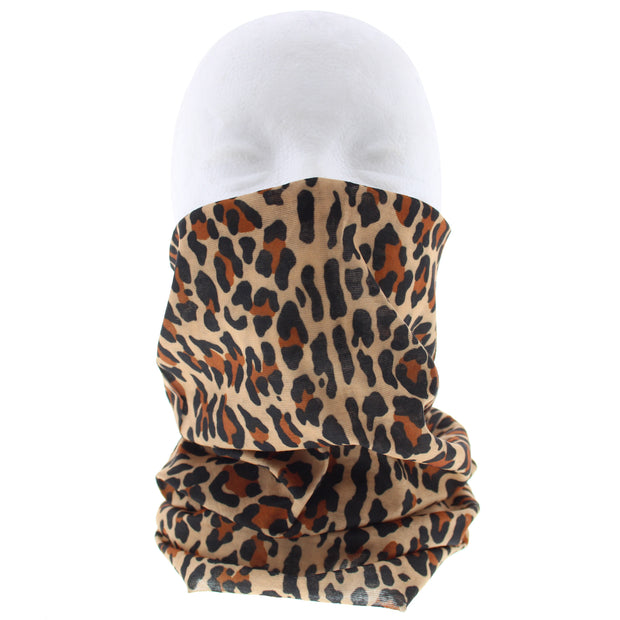 Leopard Print Face Covering/ Gaiter/ Snood