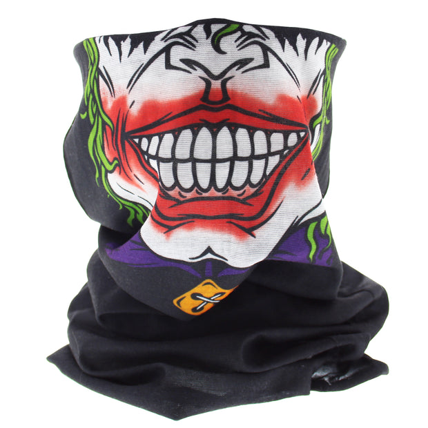 Half Joker Face Covering/ Gaiter/ Snood