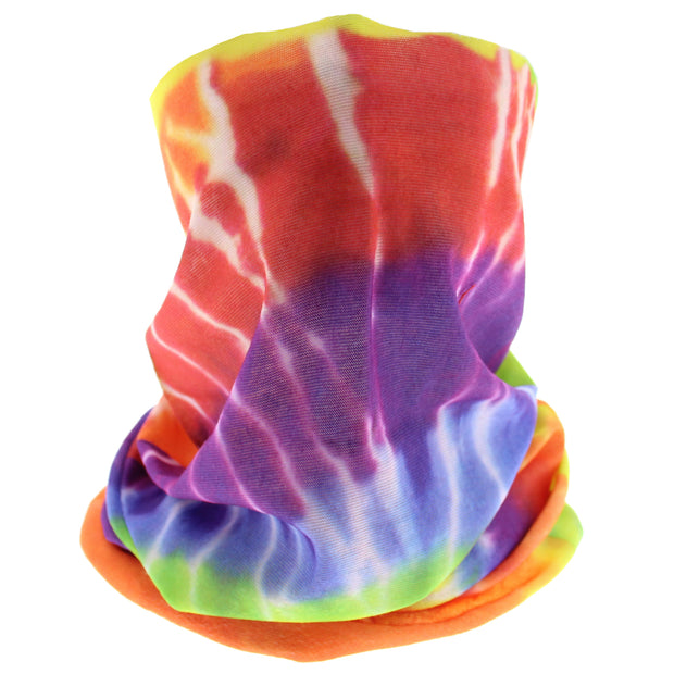 Rainbow Tie Dye Face Covering/ Gaiter/ Snood