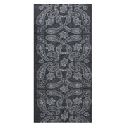 Retro Black Paisley Print Face Covering/ Gaiter/ Snood