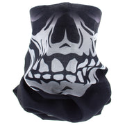 Black Grinning Skull Face Covering/ Gaiter/ Snood