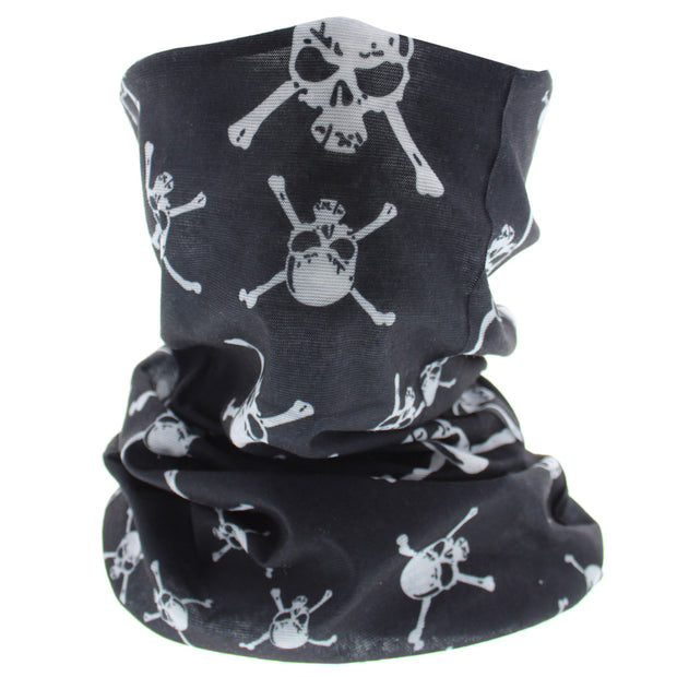 Black Skull & Crossbones Face Covering/ Gaiter/ Snood