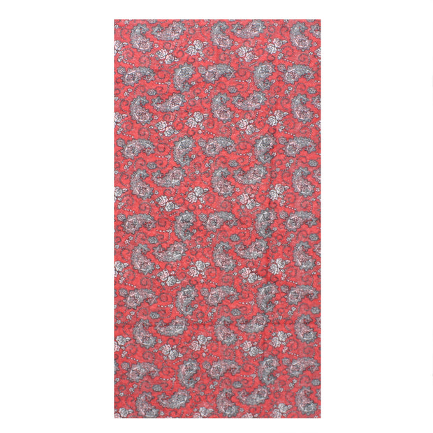 Retro Red Paisley Print Face Covering/ Gaiter/ Snood