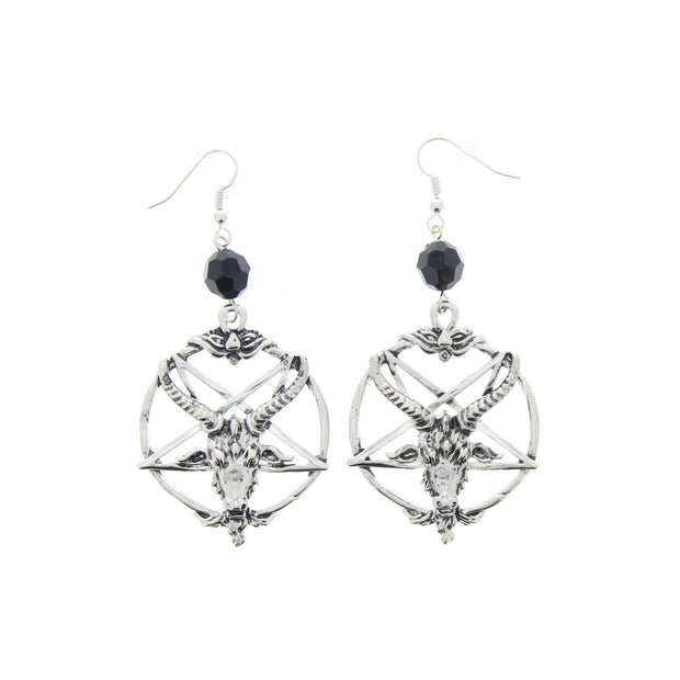 Ram on Pentagram Earrings