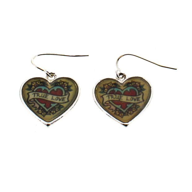 True Love Heart Earrings (2 x 2cm)