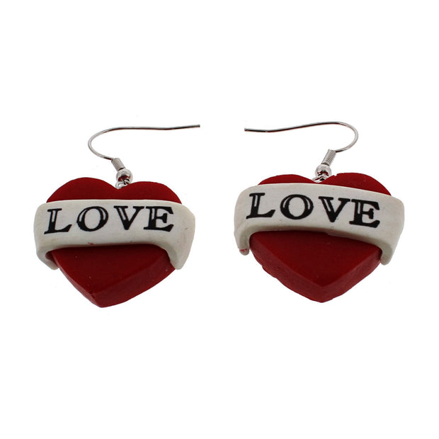 Love Heart Earrings (2.5 x 2cm)