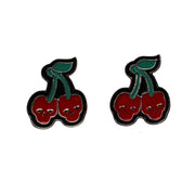 Ego Cherry / Skull Earrings (1.5 x 2cm)