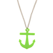 Anchor Pendant on Adjustable Chain Necklace - 5 x 4cm Pendant