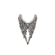 Adjustable Angel Wings Ring with Diamante Stones
