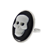 Adjustable Skull Cameo Ring