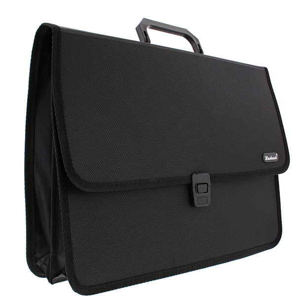 38.2cm x 27.4cm x 4cm 3 Pocket Expanding A4 Document / File Organiser Briefcase