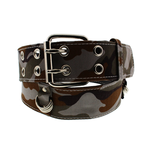 Wide Urban Camouflage Belt with Rings