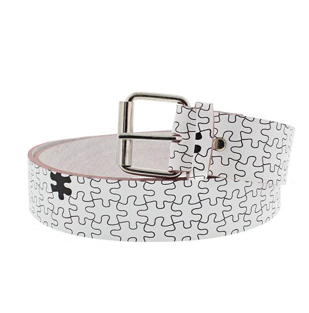 Puzzle Themed Printed Belt
