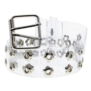 Adjustable Clear PVC Belt with 2 Row Floral Eyelets