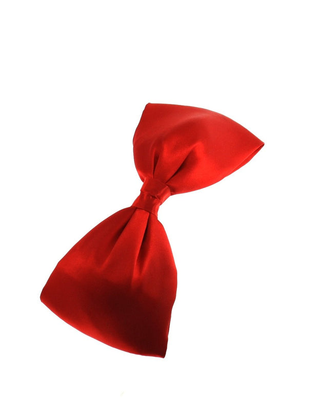 Very Large Satin Bow on Crocodile Clip (Dimensions of bow: L: 22cm x H: 9cm - Dimensions of crocodile clip : 6.5cm - 50s / 80s retro fashion - Great as a fashion hair accessory / fancy dress)