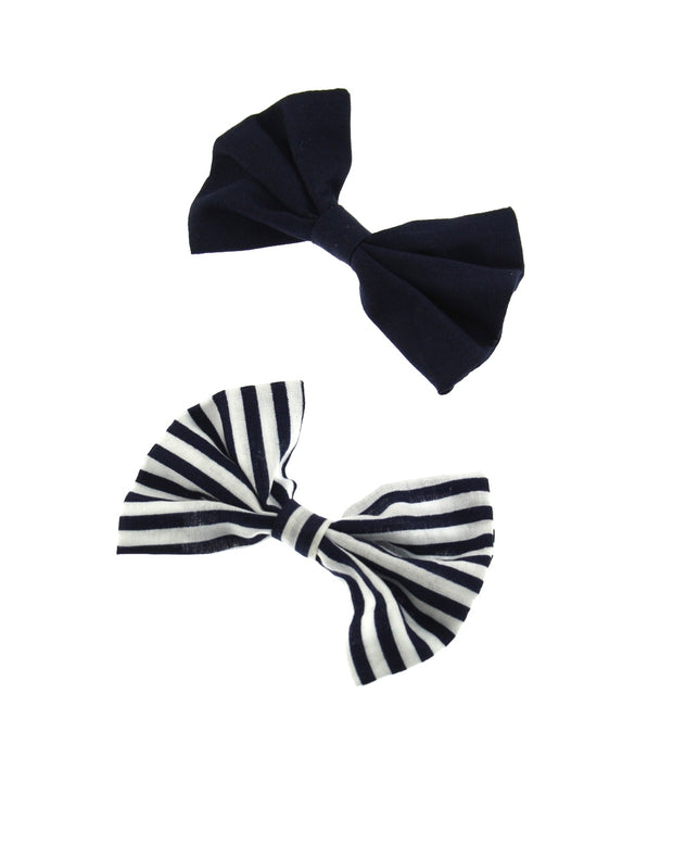 Navy and White/Navy Bowes 2 on card (6.5 x 4.5cm)