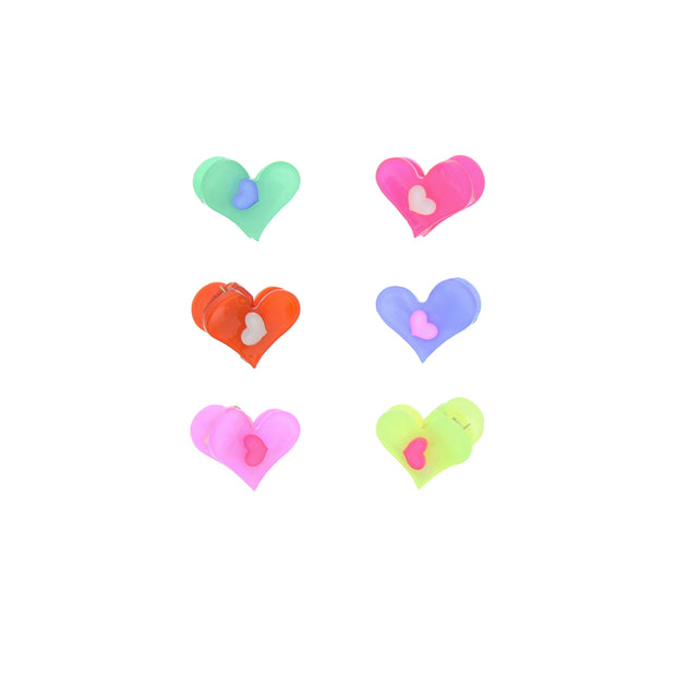 Assorted Pairs of Mini Heart Clips