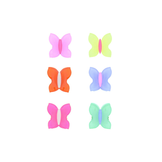 Assorted Pairs of Mini Butterfly Clips