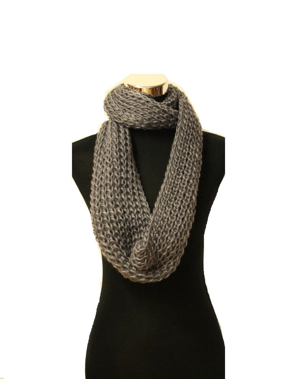 Warm Knitted Womens Loop Scarf / Snood/ Cowl