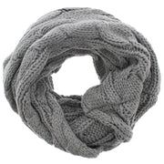 Warm Cable Knitted Womens Loop Scarf / Snood/ Cowl