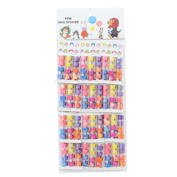 144 Assorted Bright AB Small Mini Clips