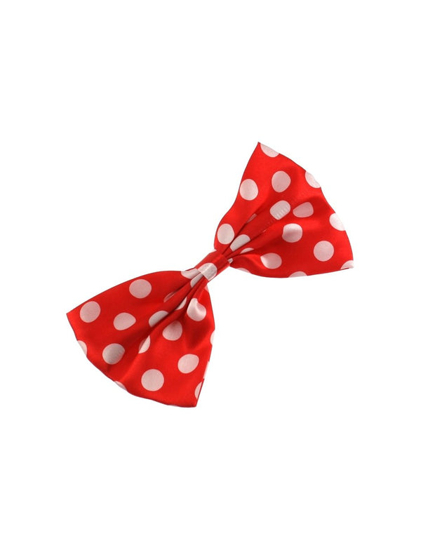 Large Polka Dot Bow on crocodile clip (Dimensions of bow: L: 16cm x H: 9cm - Dimensions of crocodile clip : 5.5cm - 50s retro fashion - Great as a fashion hair accessory / fancy dress)