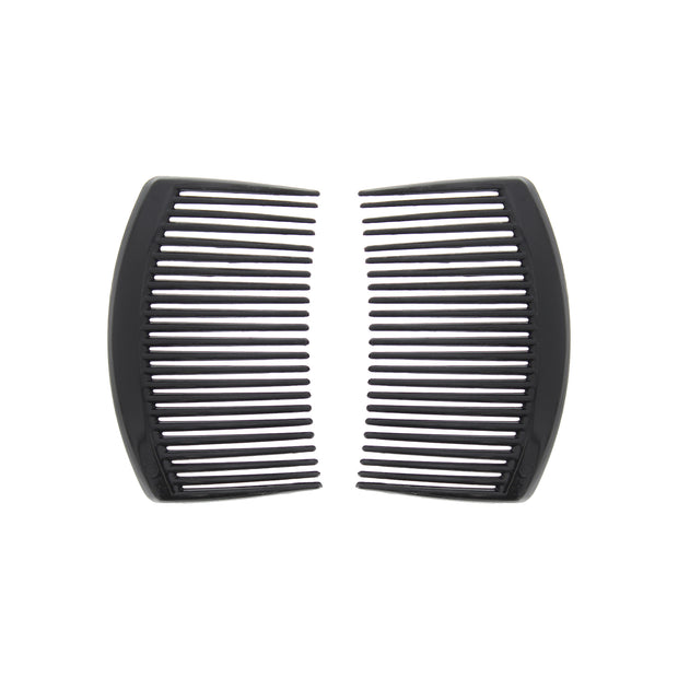 Pair of 8.5cm Black Combs