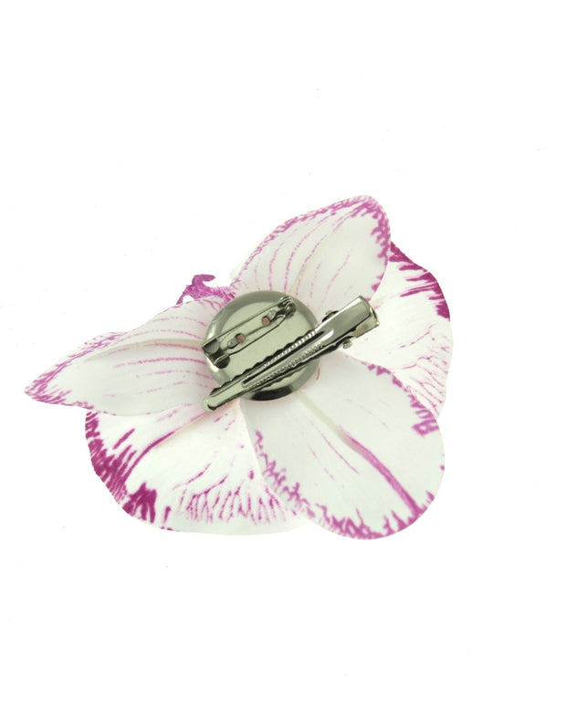 Orchid on Concord Clip & Brooch Pin