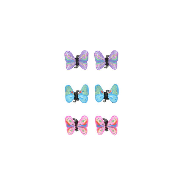 6 on a Card Pastel Butterfly Clips