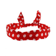 Satin Polka Dot Wire Headband