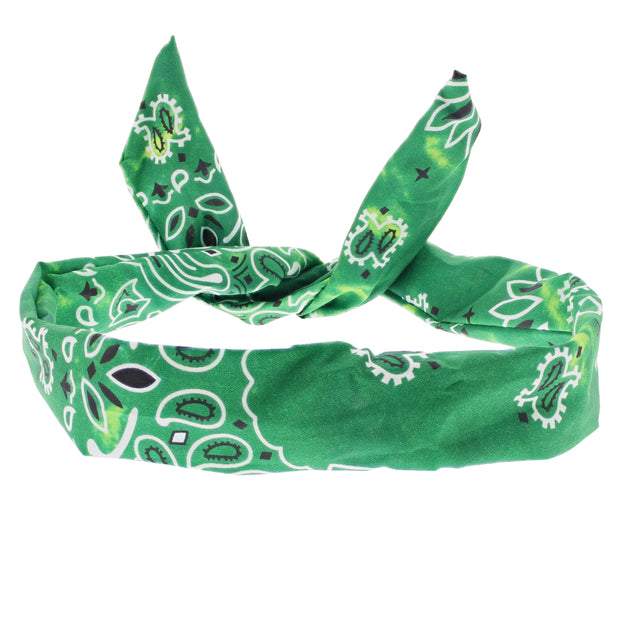 Acid Wash Paisley Print Wire Headband