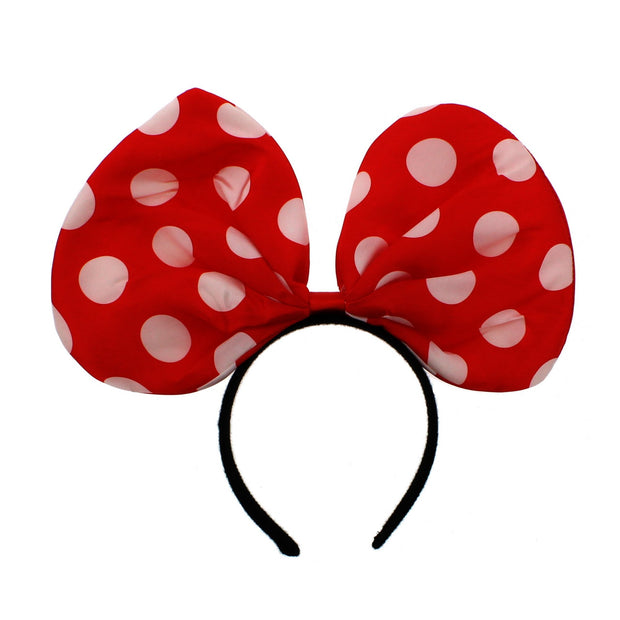 Large Polka Dot Bow on Aliceband