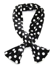 Polka Dot Wide Velvet Wire Headband with Flared Ends