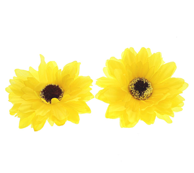 2 on a Card Sunflower Clips (Diameter - 8.5cm)