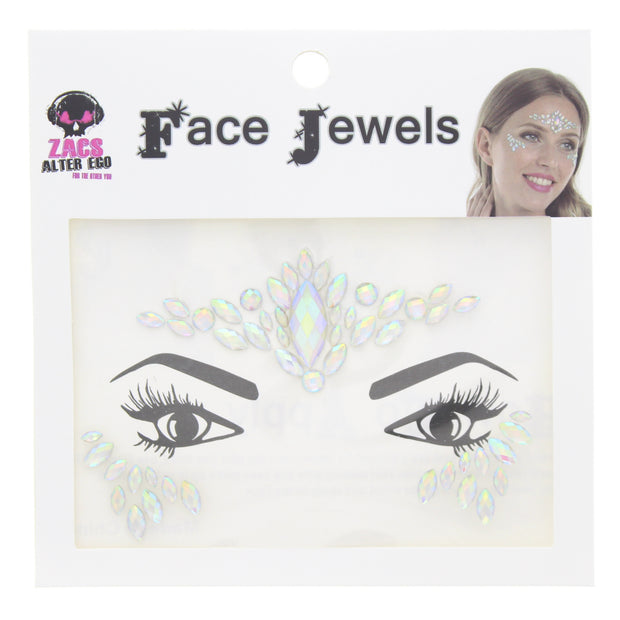 Glow in the Dark Crystal Stone Face Gems / Jewels