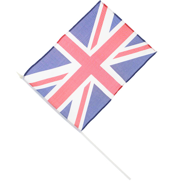40 x 30cm Union Jack Flag on Plastic Pole