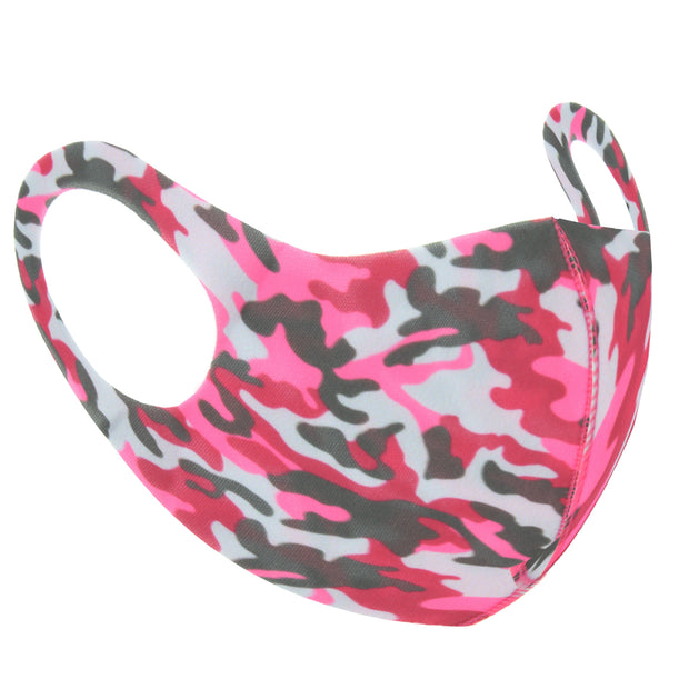 Pink Camouflage Print Value Face Mask