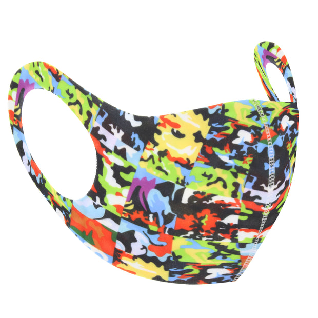 Multi Colour Camouflage Print Value Face Mask