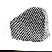 Checkered Gingham Print Cotton Face Mask