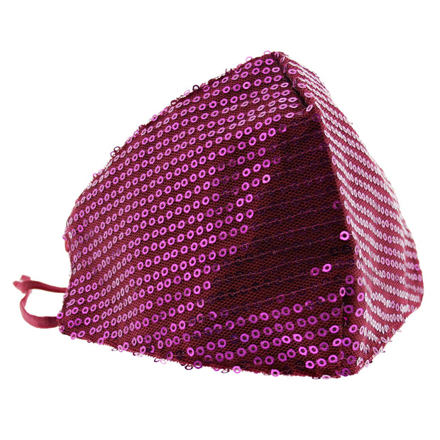 Shiny Sequins on Mesh Cotton Face Mask