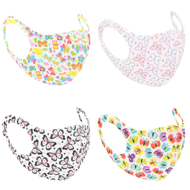 Assorted Butterfly Print Value Face Masks