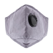 Plain Cotton Face Mask with Valve & Filter