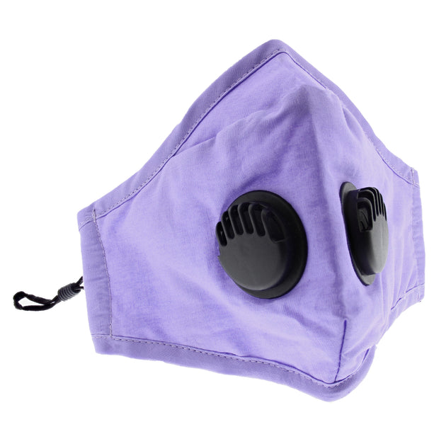 Cotton Face Mask with Double Valve & Filter