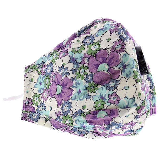 Floral Print Cotton Face Mask with Valve