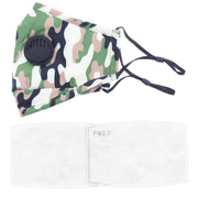 Camouflage Cotton Face Mask with Valve