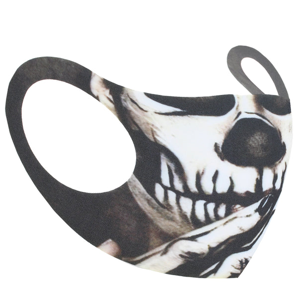 Skull with Hand to Mouth Value Face Mask