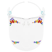 Full Face Shield Visor Glasses with Self Adhesive Face Gems/ Jewels