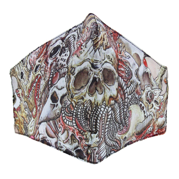Horror Skulls Print Cotton Face Mask