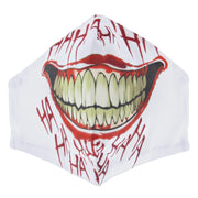 White Evil Grinning Cotton Face Mask